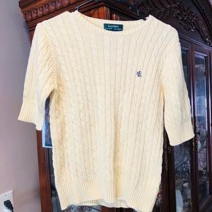 Lauren Ralph Lauren Yellow Cable Knit Sweater